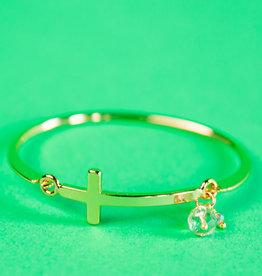 Melania Clara Cross Bracelet with stone