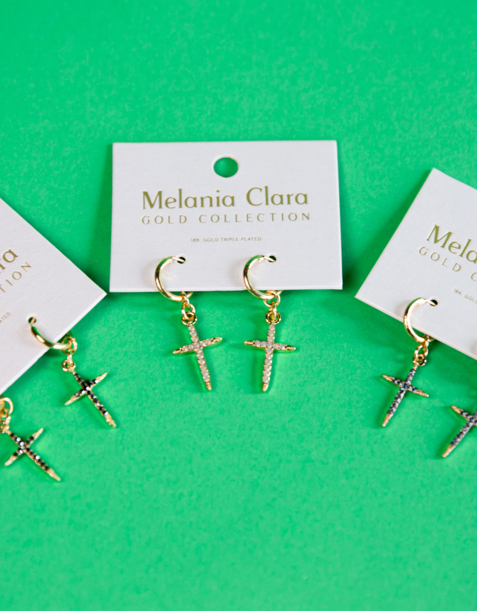 Navy Cross Earrings