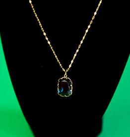 Gem Stone Gold Necklace