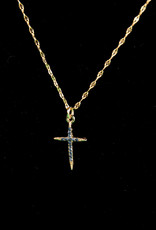 Navy/Gold Cross Necklaces
