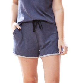 Navy Pajama Shorts