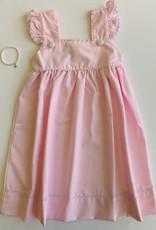 Pink Dress - White Trim