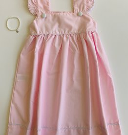 Pink Dress - White Trim