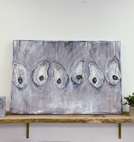 Half A Dozen Oysters Painting + Single Oyster Bonus Canvas