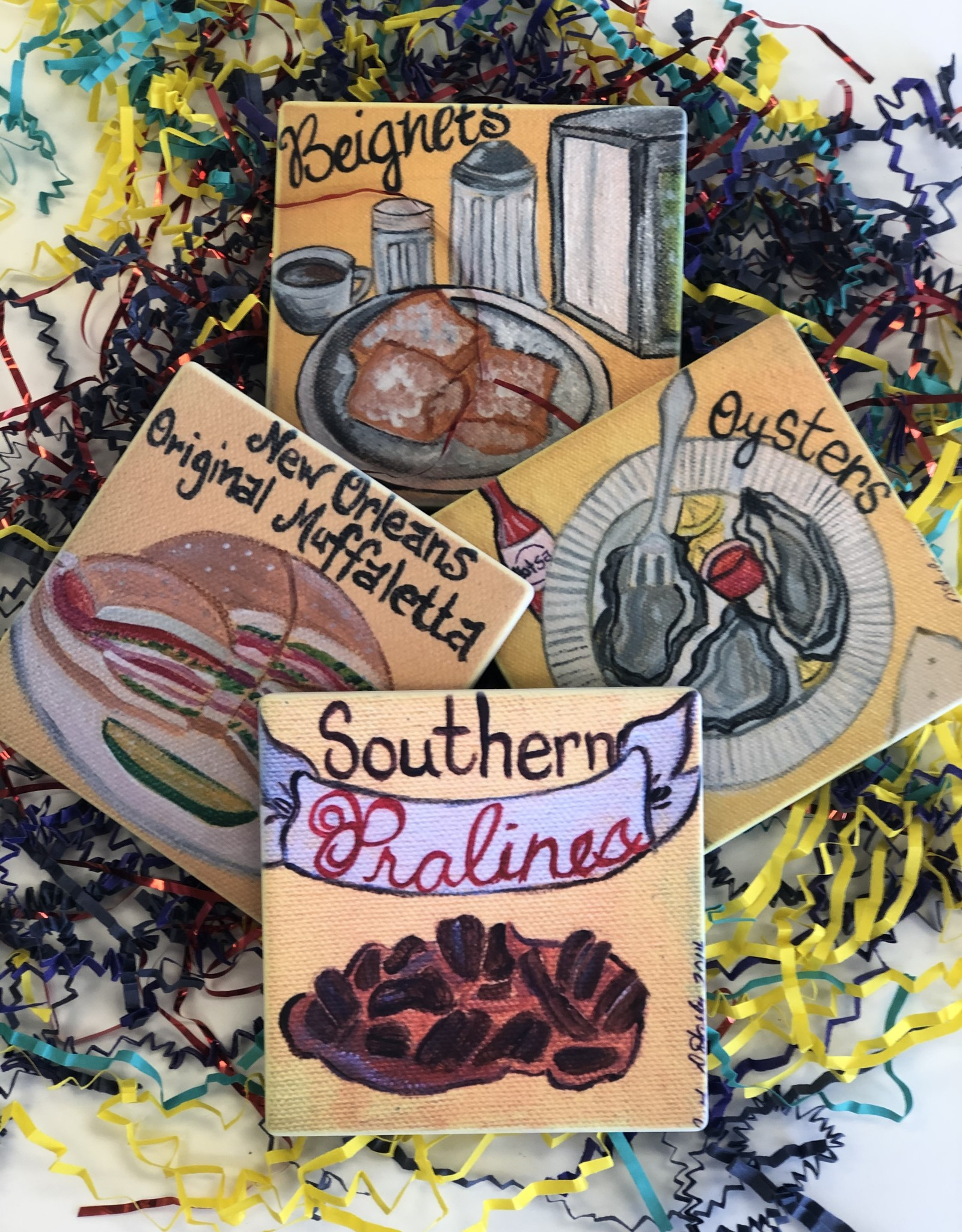 Purple Pumpkin New Orleans Coaster