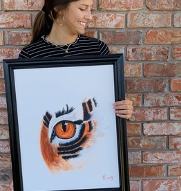 Russell Wright Framed Eye Of The Tiger By Russ