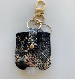 Keychain Sanitizer - Silver/Black Snakeskin