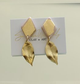 Leaf Earrings - Blush