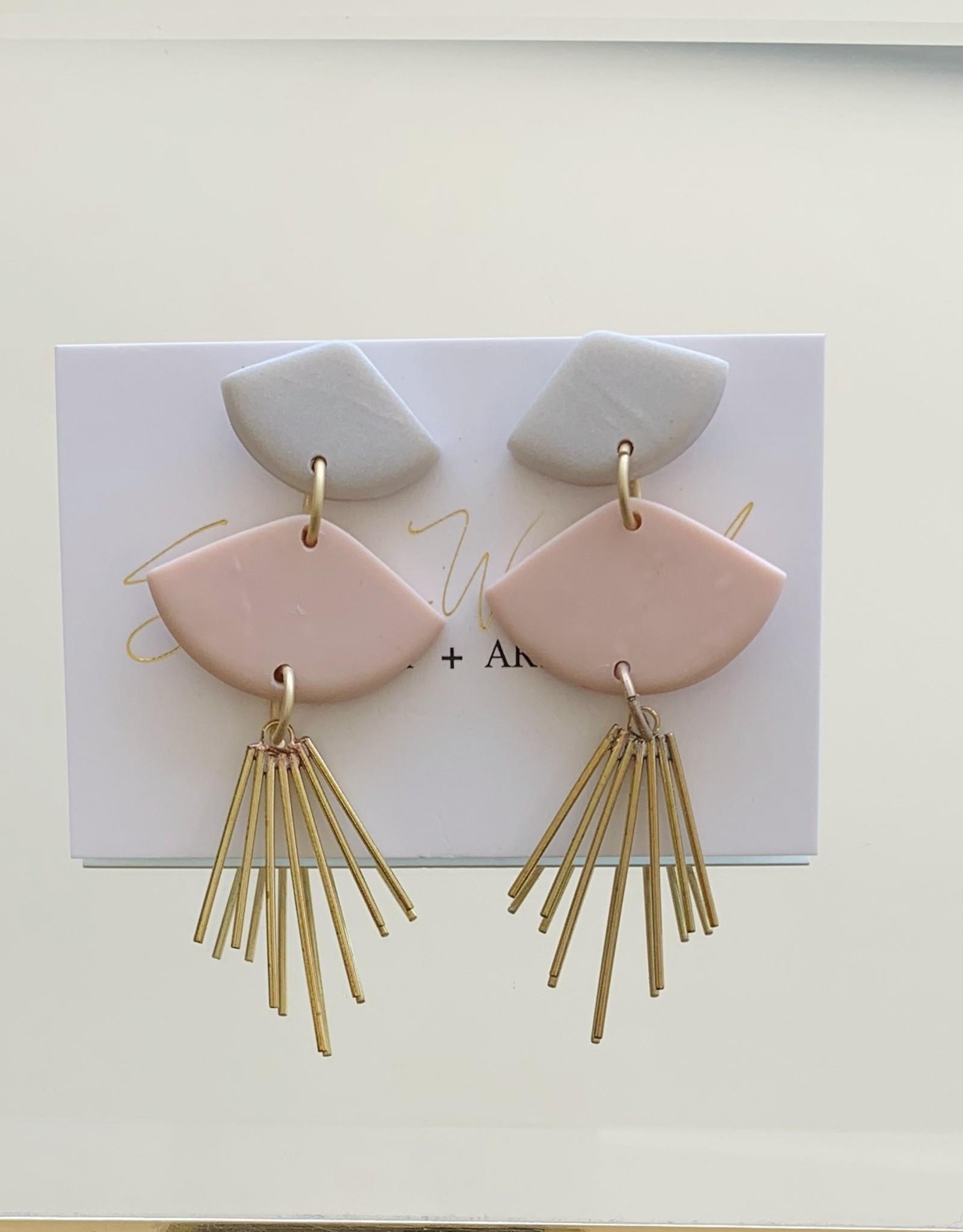 Sunburst Earring - Dove/Blush