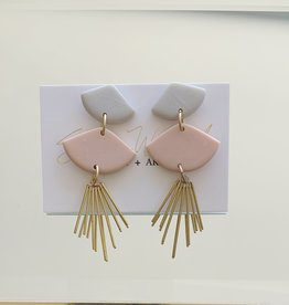 Sunburst Earring - Dove/Blush