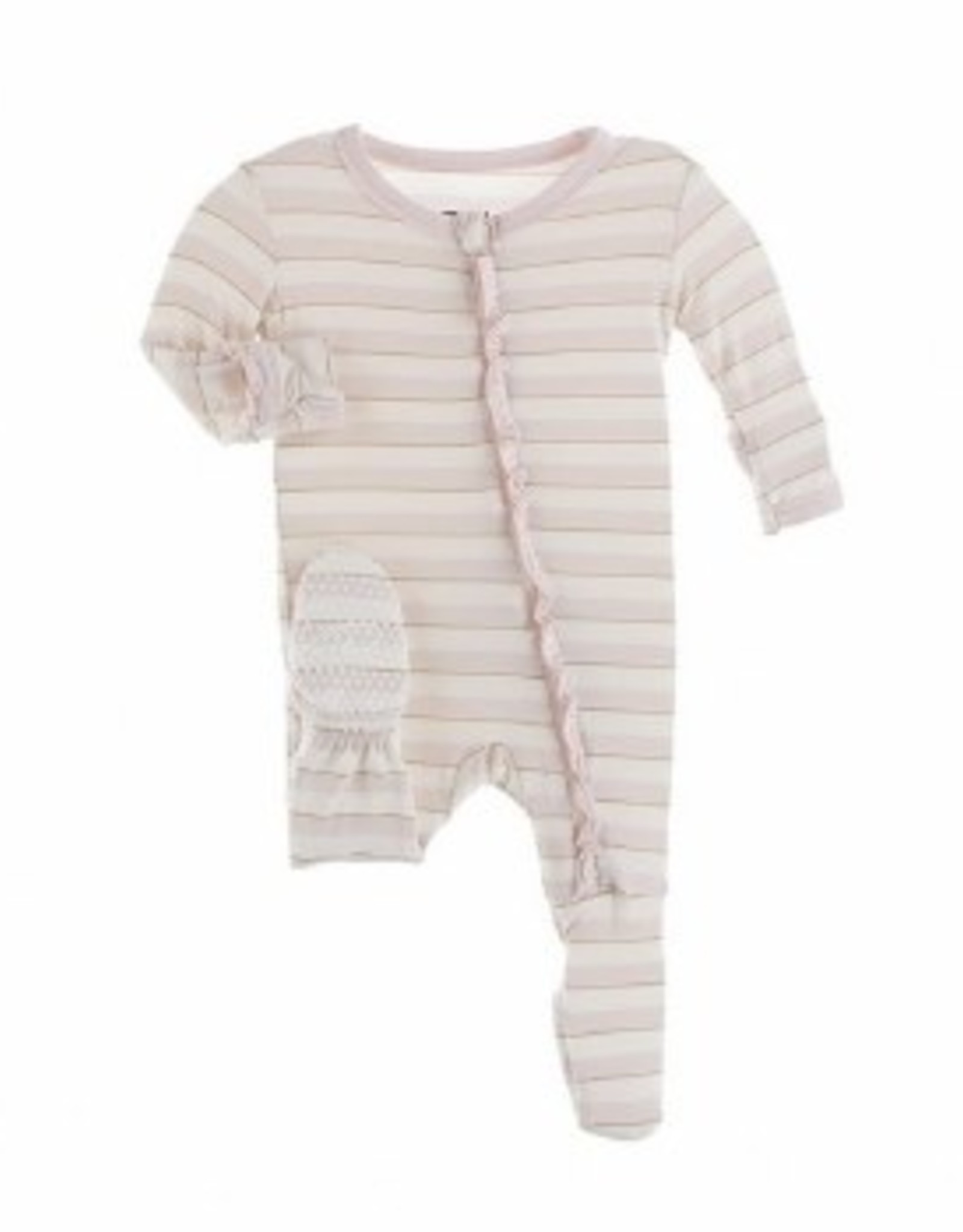 Kic Kee Pants Muffin Ruffle Footie - Sweet Stripe