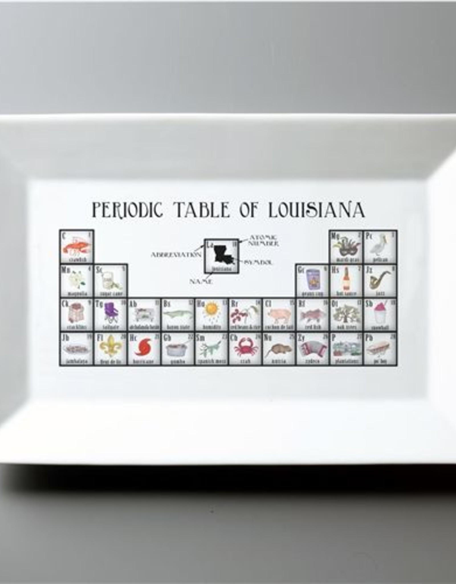 Dishique Louisiana Periodic Table Platter