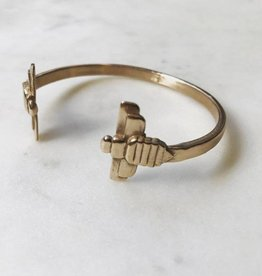 Double Bee Bangle by MIMOSA