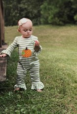 Applique Holiday Pumpkin Girl's Romper