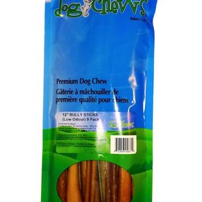 """Nature's Own-12"""" OdourFree Bully Stick 9pc bag"""