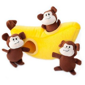 ZippyPaws Burrow - Monkey N Banana