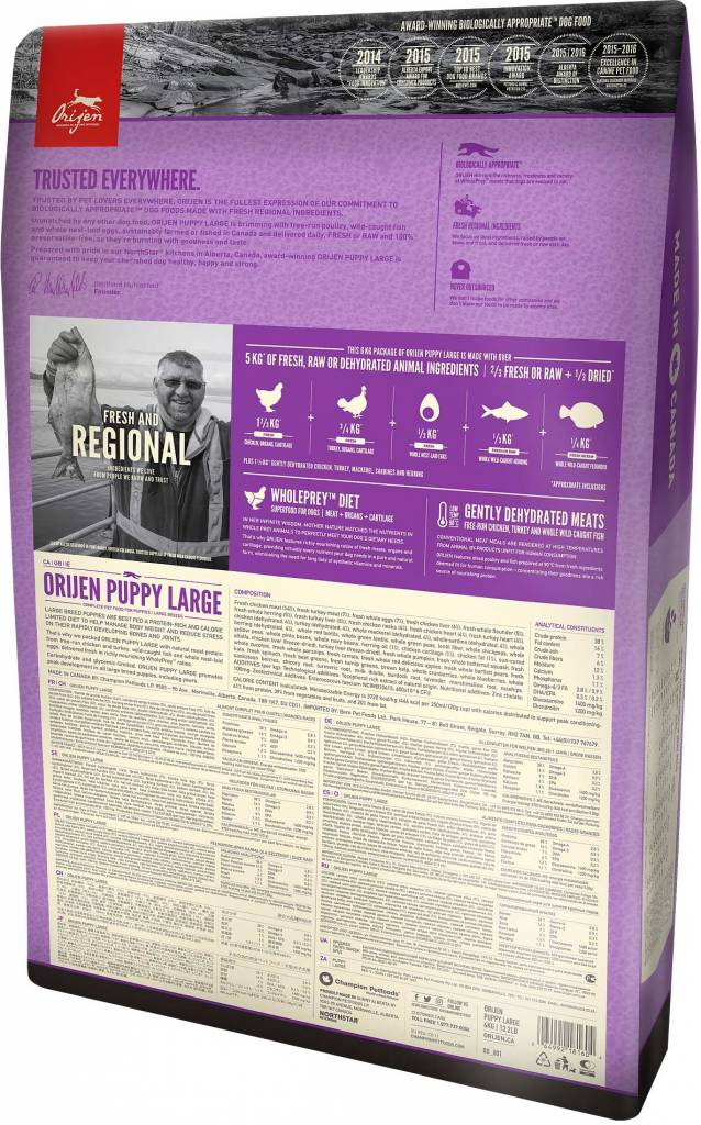 Champion Pet Foods Orijen Dog Food - Large Breed Puppy