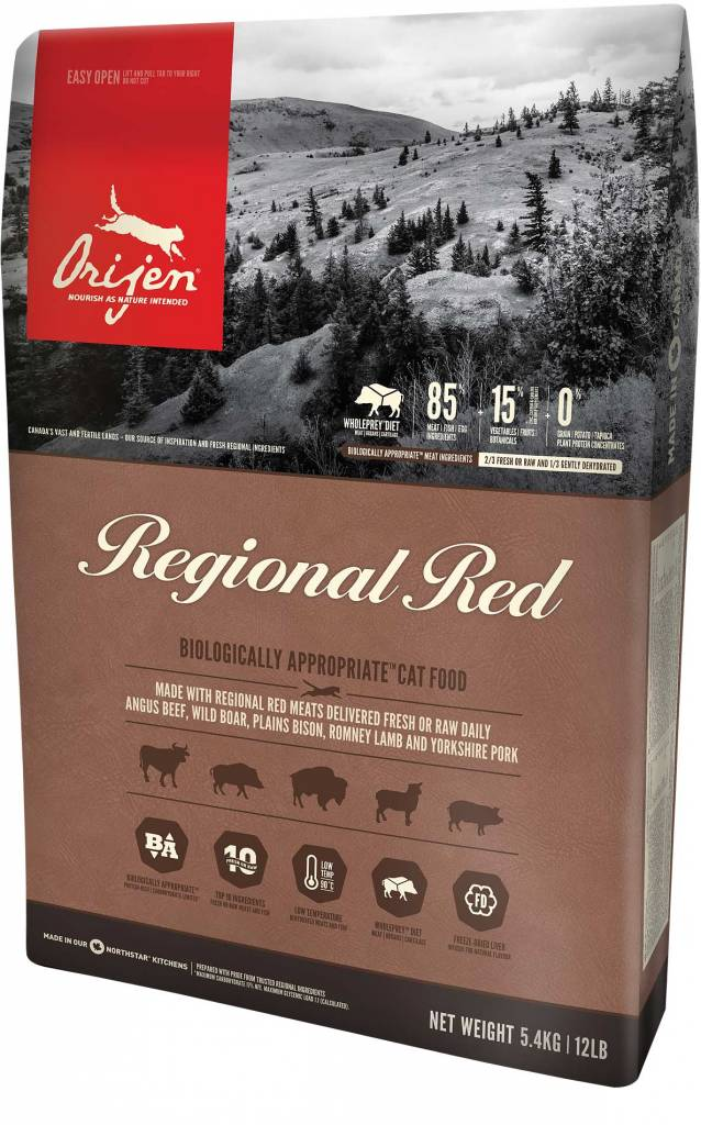 Champion Pet Foods Orijen Cat Food - Regional Red