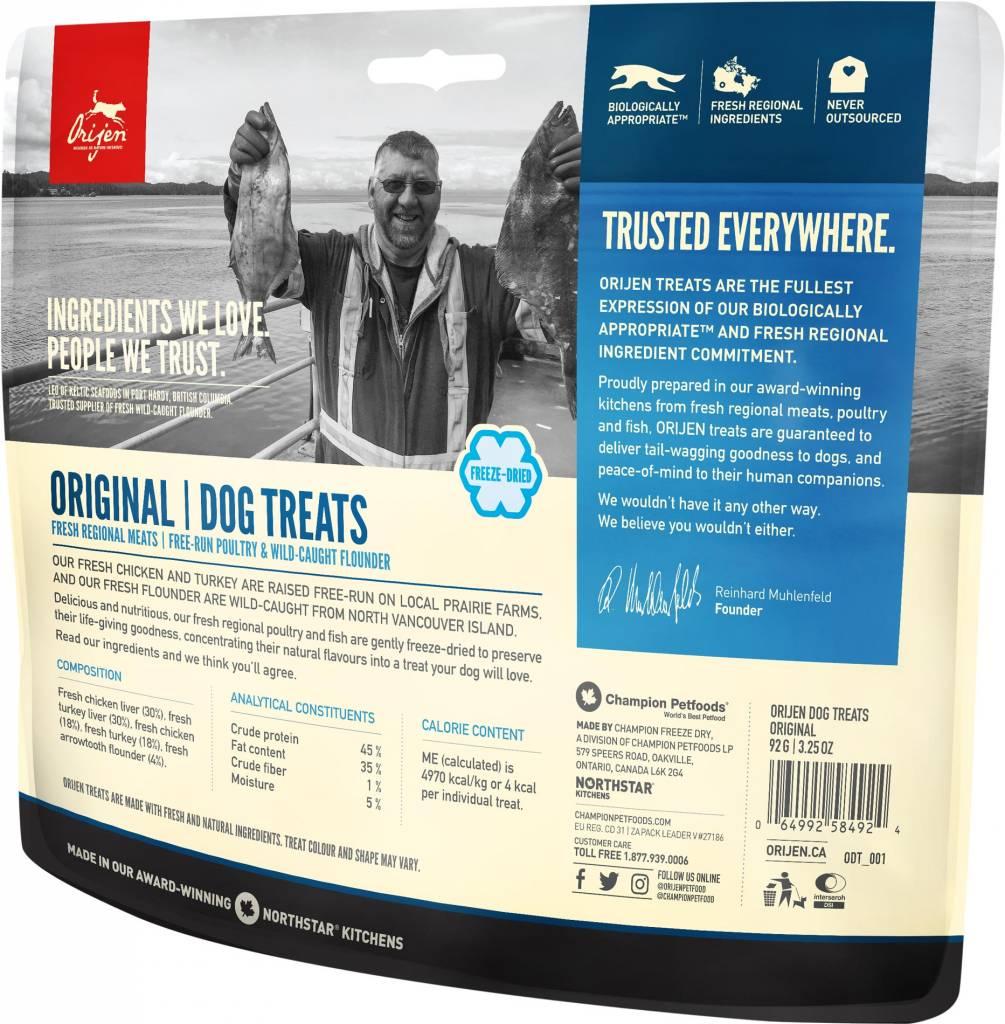 Champion Pet Foods Orijen Freeze Dried Dog Treats 3.25oz Original
