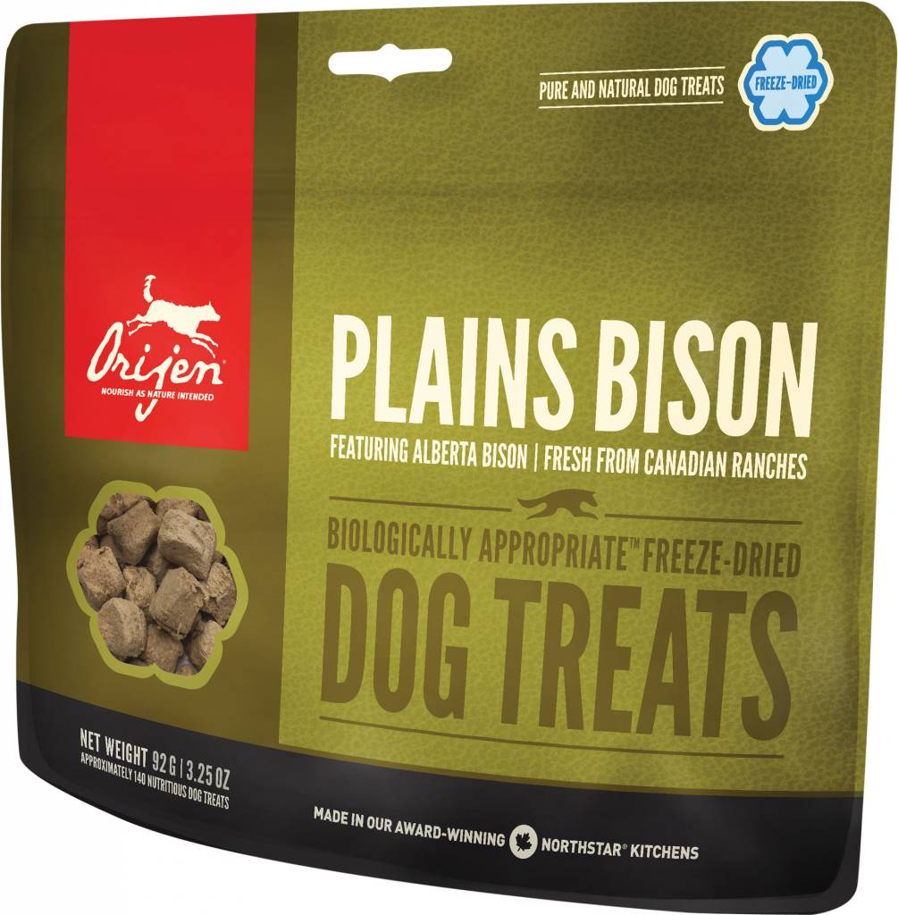 Champion Pet Foods Orijen Freeze Dried Dog Treats 3.25oz Plains Bison