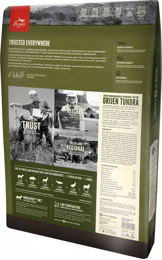 Champion Pet Foods Orijen Freeze Dried Dog Treats 3.25oz Tundra