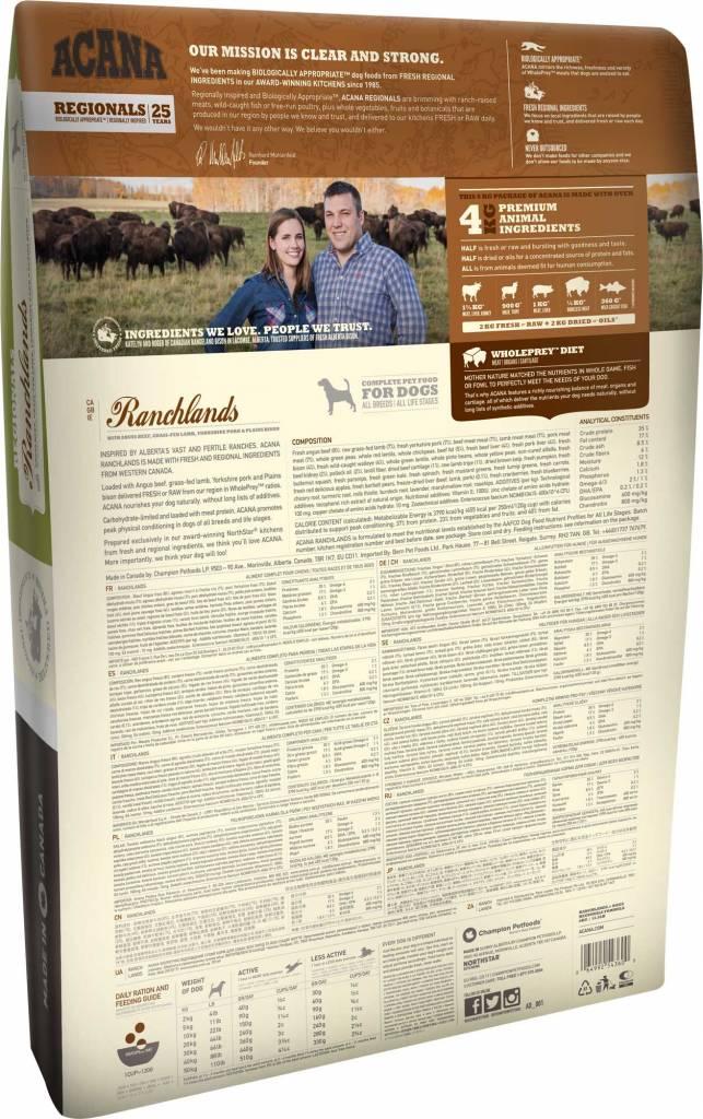 Champion Pet Foods Acana Dog Food - Ranchlands