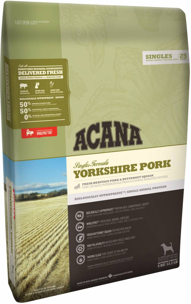 Champion Pet Foods Acana Dog Food - Yorkshire Pork