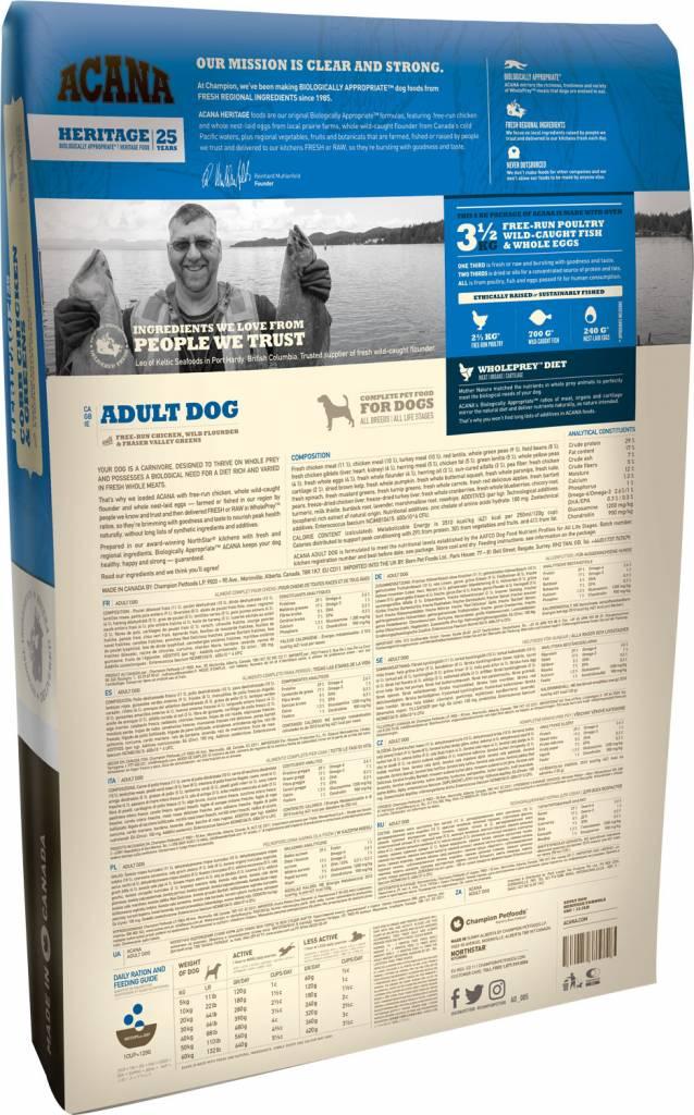 Champion Pet Foods Acana Heritage- Chicken & Greens