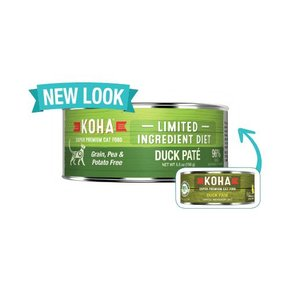 Koha Super Premium Pet Food Koha Cat Food 90% Single Protein - Duck Pate 5.5oz