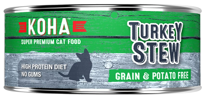 Koha Super Premium Pet Food Koha Cat Food-Turkey Stew 5.5oz