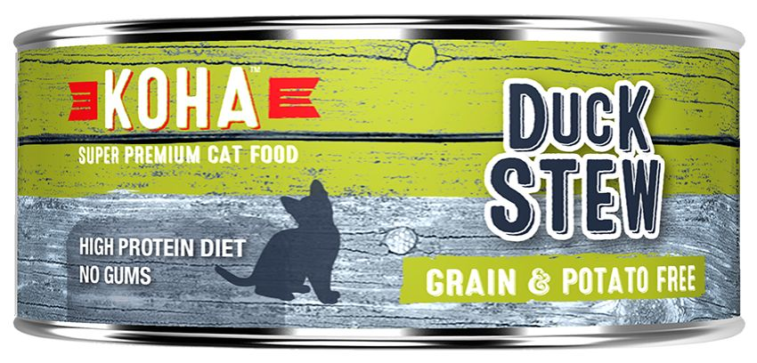 Koha Super Premium Pet Food Koha Cat Food-Duck Stew 5.5oz