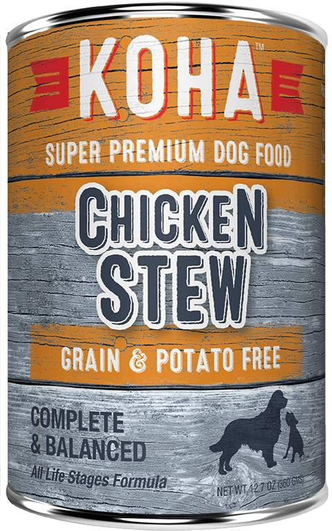 Koha Super Premium Pet Food Koha Dog Food- Slow Cooked Stews 12.7oz