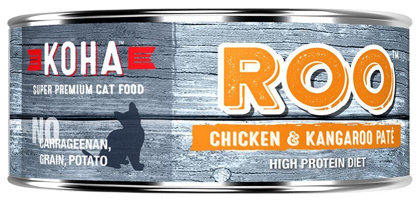 Koha Super Premium Pet Food Koha Cat Food- ROO Pate 5.5oz