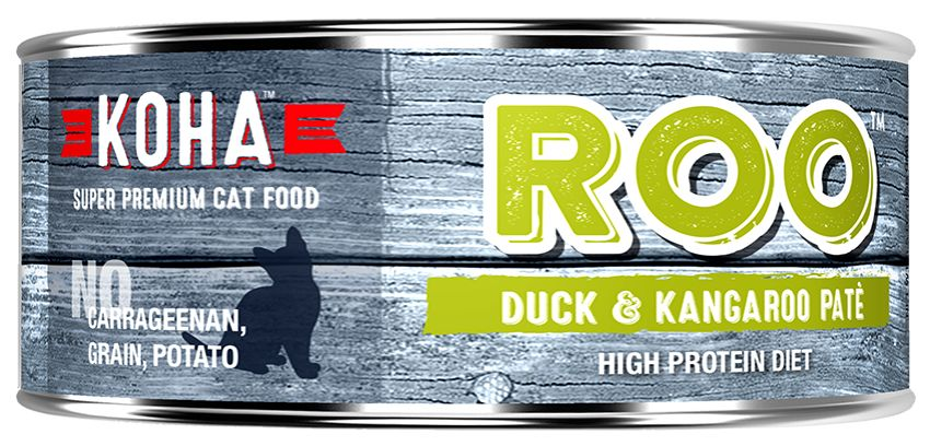 Koha Super Premium Pet Food Koha Cat Food- ROO Pate 5.5oz
