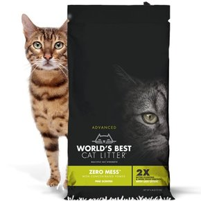 World's Best Worlds Best Cat Litter-Advanced Zero Mess Pine
