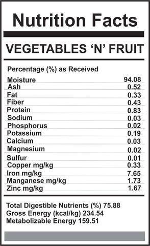 Carnivora Carnivora-Vegetable n' fruit