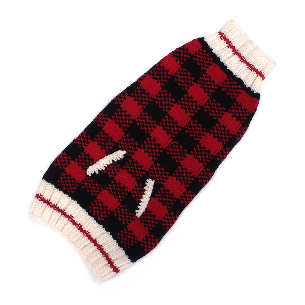Chilly Dog Sweaters Chilly Dog Sweaters - Buffalo Plaid Red
