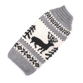 Chilly Dog Sweaters Chilly Dog Sweaters-Grey Reindeer