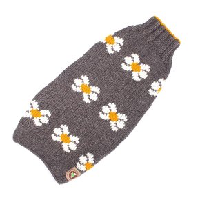 Chilly Dog Sweaters Chilly Dog Sweaters-Grey Daisy