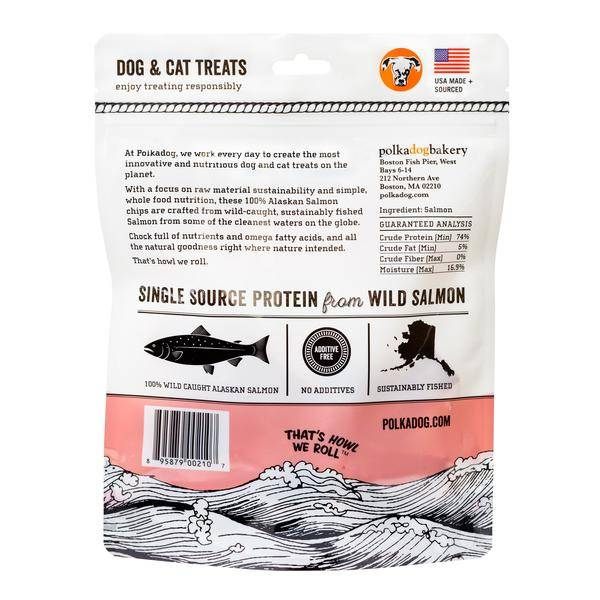 Polkadog Polkadog-Alaskan Salmon Chips 4oz