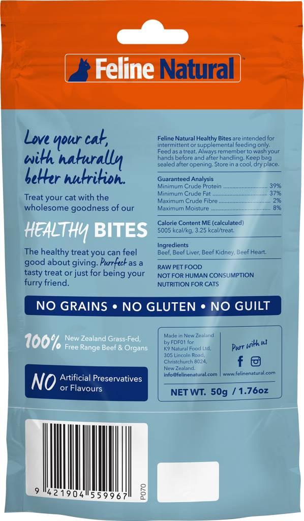 K9 Natural Feline Natural - Beef Healthy Bite Cat Treats