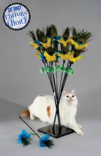 PURRfect-Peacock wand