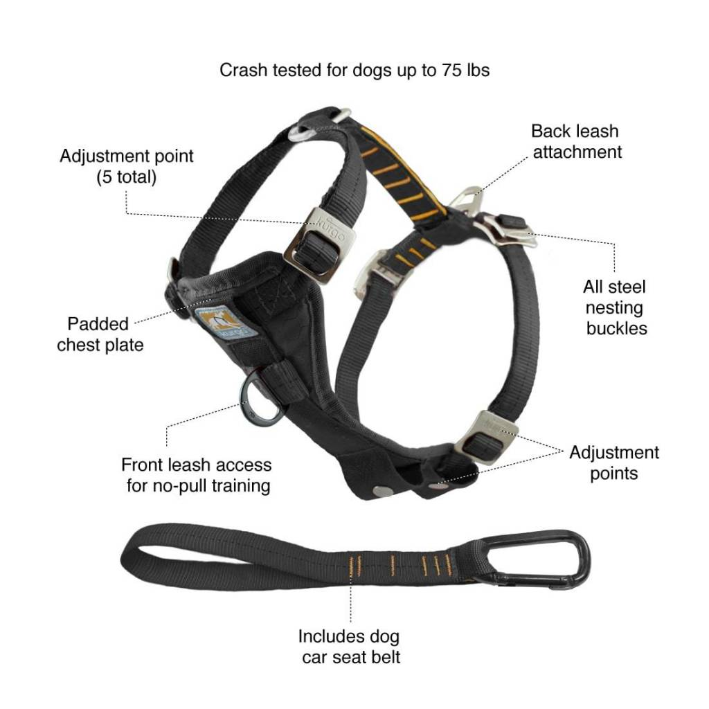 Kurgo Kurgo-Tru Fit Harness Enhanced Strenght