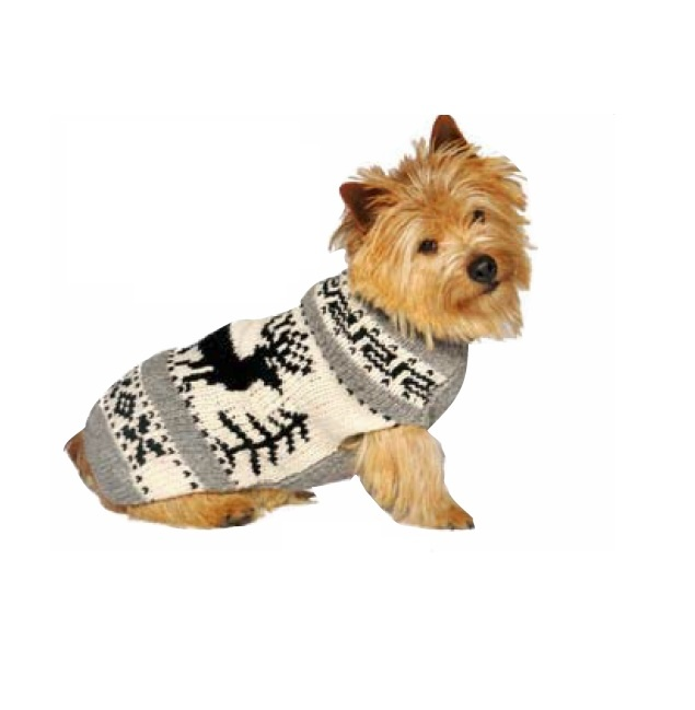 Chilly Dog Sweaters Chilly Dog Sweaters - Grey Reindeer