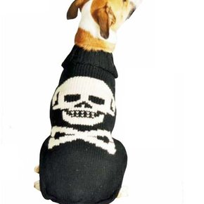 Chilly Dog Sweaters - Black Skull (disc.)