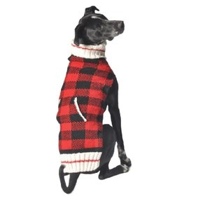 Chilly Dog Sweaters - Buffalo Plaid Red