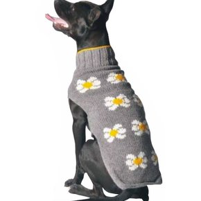 Chilly Dog Sweaters - Grey Daisy