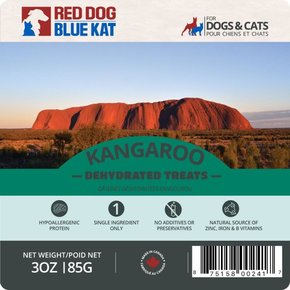 Red Dog Blue Kat Red Dog Blue Kat  - Wild Kangaroo Dehydrated Treats 85g