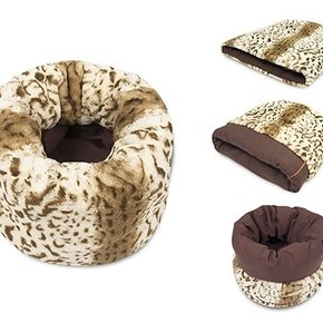 PLAY - Snuggle Bed Leopard Brown