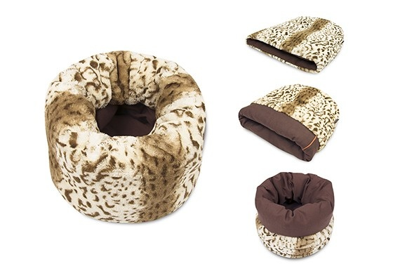P.L.A.Y. PLAY - Snuggle Bed Leopard Brown